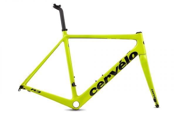 CERVELO-18-R3-DISC-車架組-48CM-螢光黃-黑LOGO